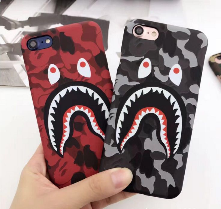 Hot Top Quality Cool Fashion Bape Shark Case For iPhone 7 6 6s Plus Bape Shark Army Phone Case Cover For iPhone 6 6s Hard Matte
