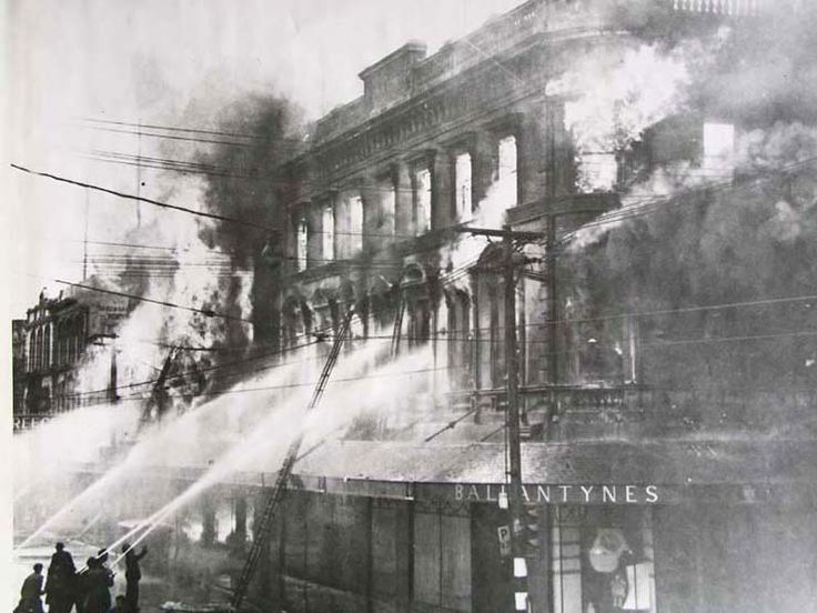 Ballantynes department store Fire in central Christchurch, New Zealand, 41 people die, November 1947