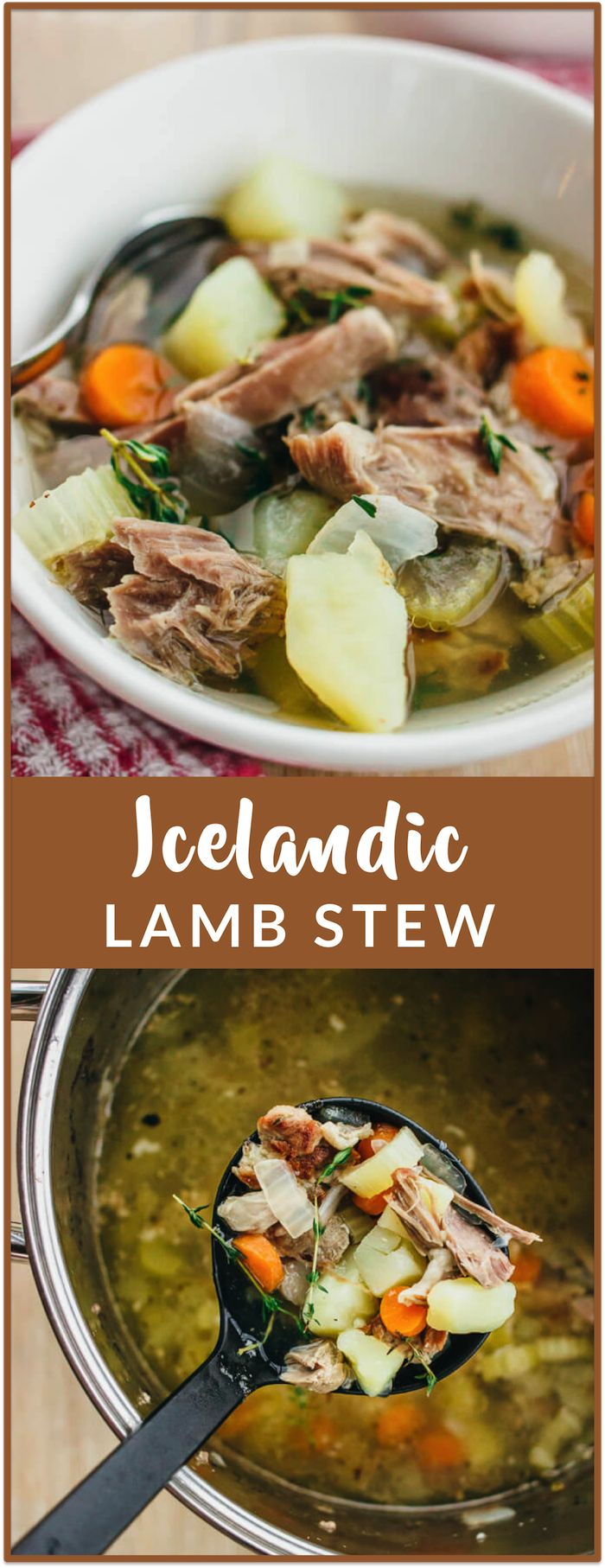 Icelandic lamb stew - Sheep outnumber people in Iceland by a factor of 3, and lamb stew is one of the most popular dishes in Iceland. After tasting several delicious lamb stews during my recent trip there, this recipe is my best recreation of Icelandic lamb stew. It's very hearty and meaty — the lamb meat is stewed until tender and easily shredded. - savorytooth.com