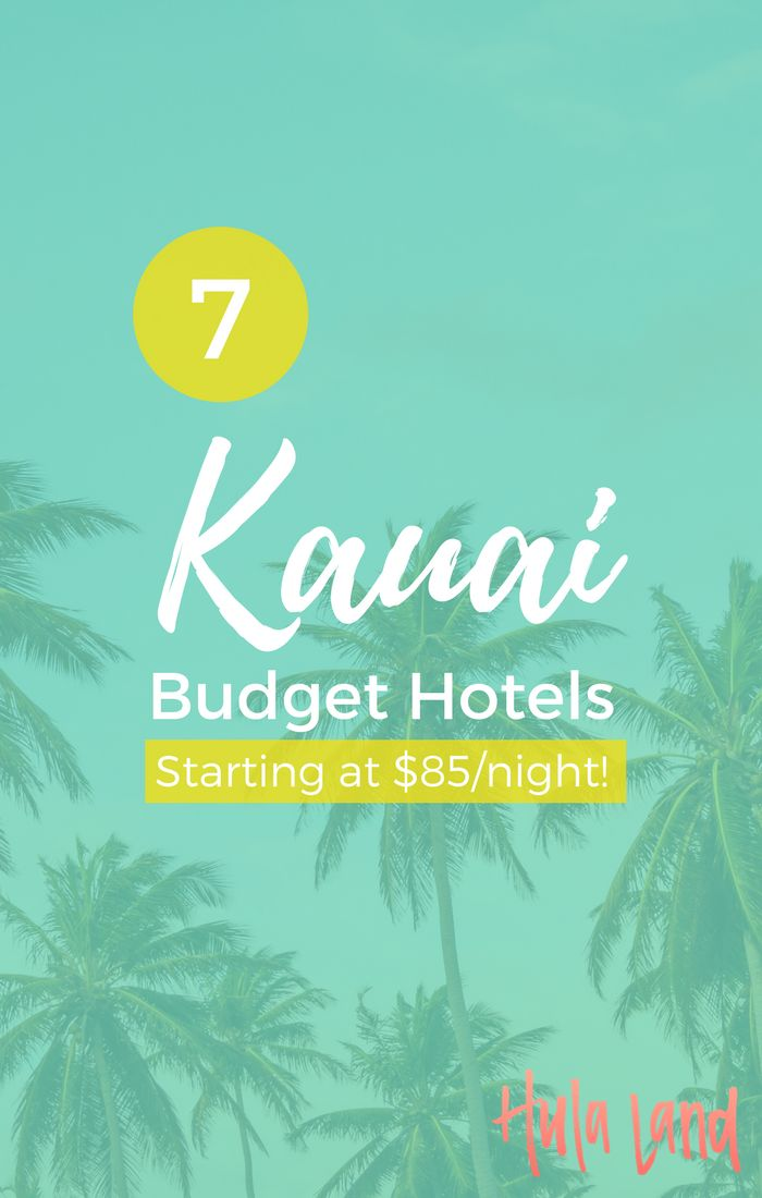 7 Kauai Budget Hotels (many of them right on the beach!) starting at $85/night!
