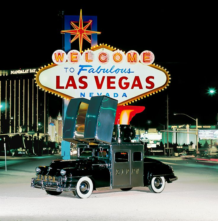 Who's feeling lucky? Swing by the Zippo store at the Luxor Las Vegas before Sunday to see the newly restored Zippo car!