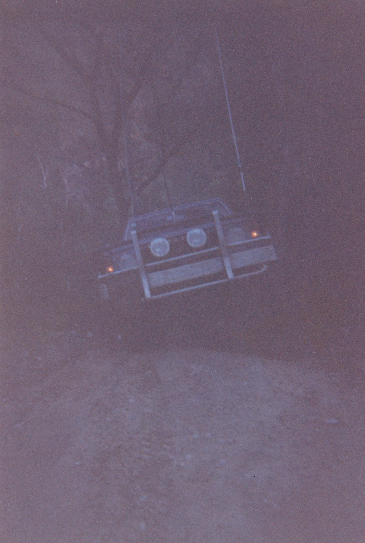 As darkness fell and all hopes started dwindled from several failed attemps, the second 4x4 finially escapes climbing out of the steep trail with both front wheels leaving the ground.