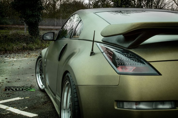 nissan 350z gold wrapping!