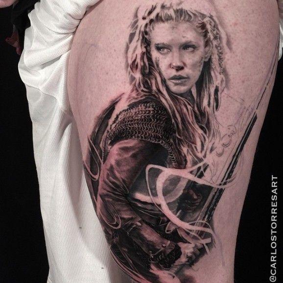 Powerful Lagertha by Carlos Torres...   tatuajes   Spanish tatuajes   tatuajes para mujeres   tatuajes para hombres    diseños de tatuajes http://amzn.to/28PQlav