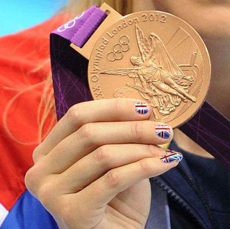 Olympic Medal Winning Nail Art