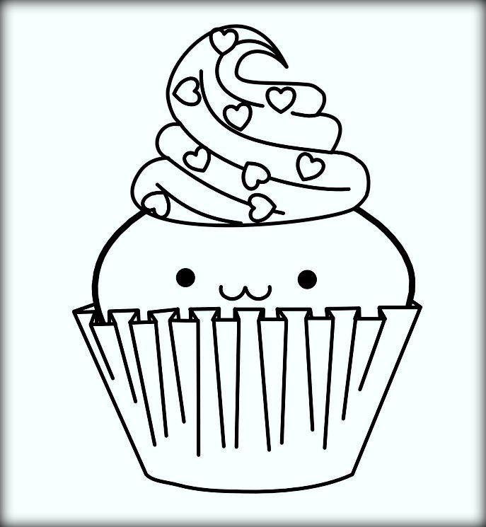 Cute Cartoon Cupcake For Kids