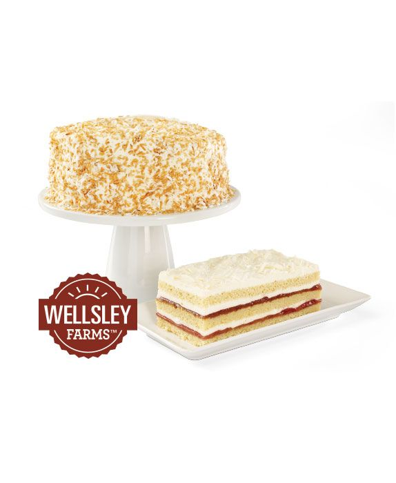 Delight your guests with luscious Wellsley Farms Coconut Cake or Strawberry Bar Cake