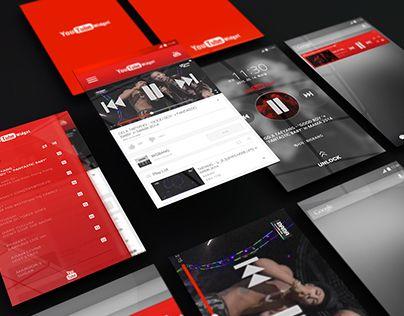 UI/UX/GUI Design : Youtube Widjet Design