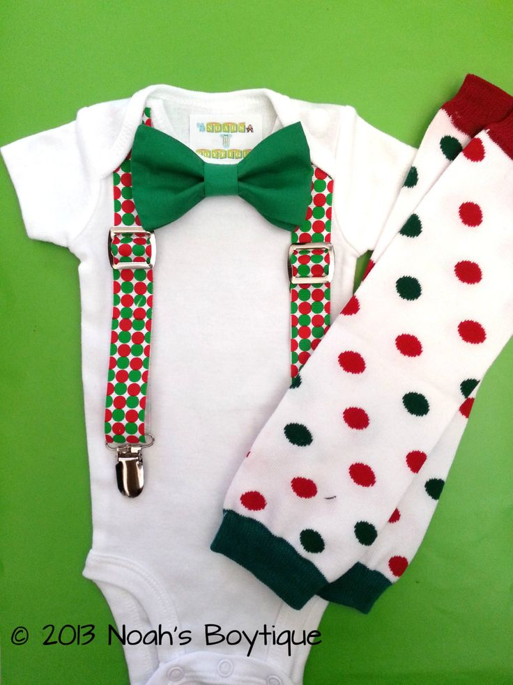 Baby Boy Christmas Outfit  First Christmas by NoahsBoytiques, $25.00