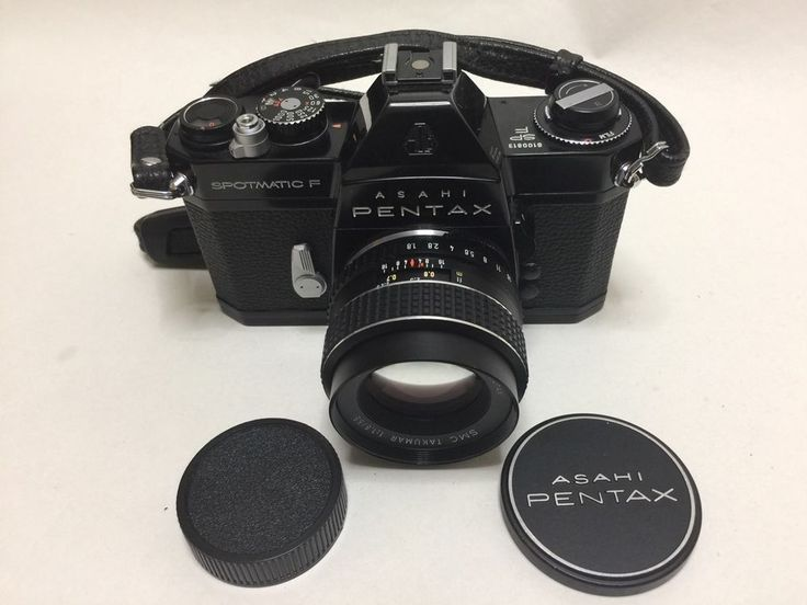 [NEAR MINT] Pentax Spotmatic SP F Black w/SMC takumar 55mm f/1.8 Lens #66 #PENTAX