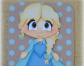 Disney Princess Elsa Frozen Premade Scrapbooking by MyCraftopia