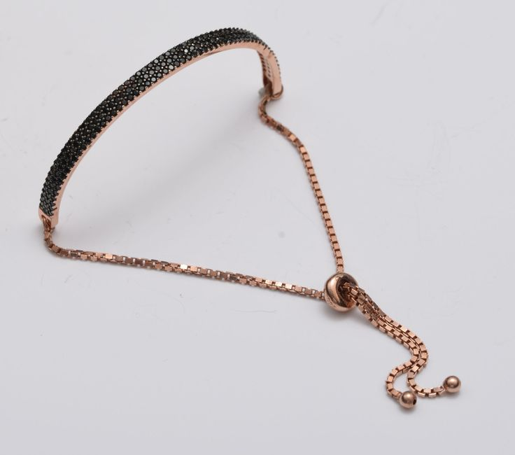 Silver Charm Bracelet - Sparkling Swarovsky Bracelet - Dainty Free Size Bracelet -  Gift For Her - Silver Jewelry by ArtesSilver on Etsy