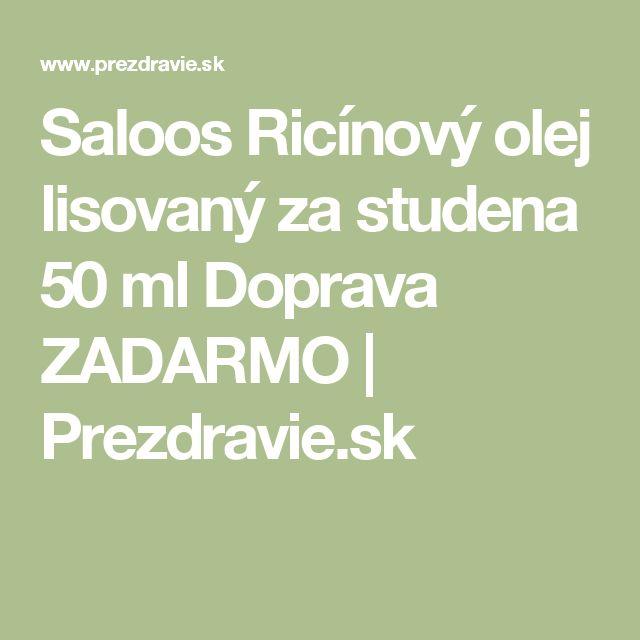 Saloos Ricínový olej lisovaný za studena 50 ml Doprava ZADARMO | Prezdravie.sk