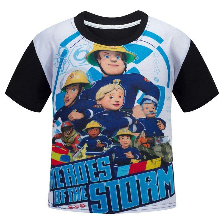 Kids Boys Clothes Brand Girl Children T Shirts Cotton Short Sleeve T-shirt Fireman Sam Cartoon Summer Clothing Christmas Tshirt //Price: $US $5.40 & FREE Shipping //     #bags