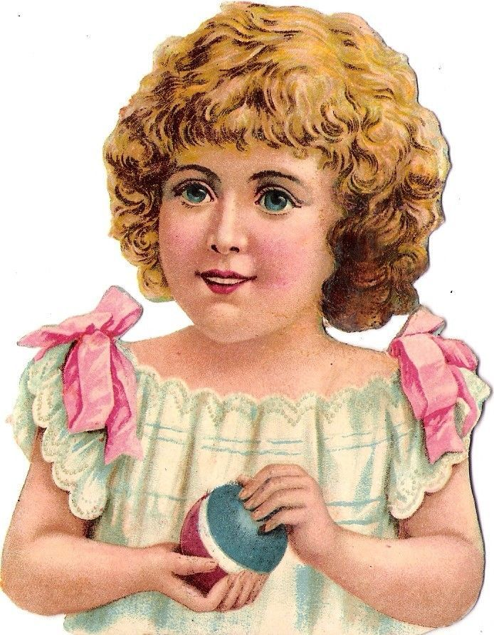Oblaten Glanzbild scrap die cut chromo  Kind child Ball