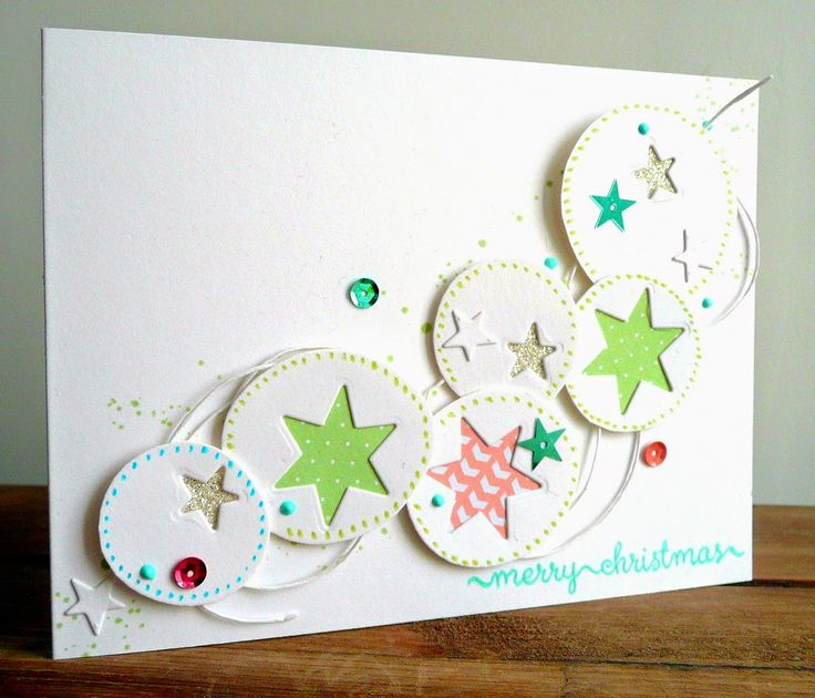 Love the punch-outs on the circles. Butterflies, flowers, or hearts would be cute. Add some dotties from Gorgeous and some tiny bling.