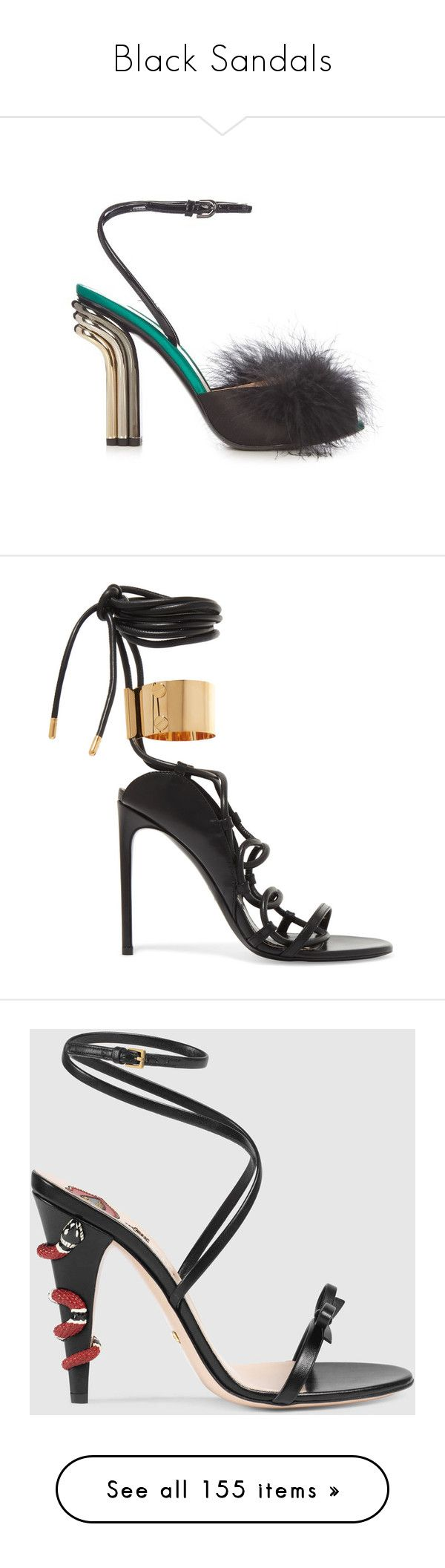 Black sandals polyvore