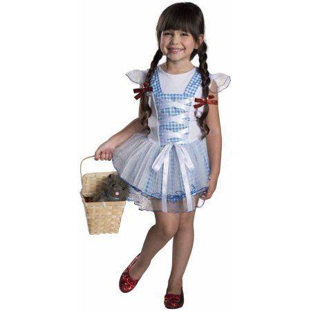 Wizard of Oz Dorothy Tutu Girls' Child Halloween Costume, Size: Medium, Multicolor