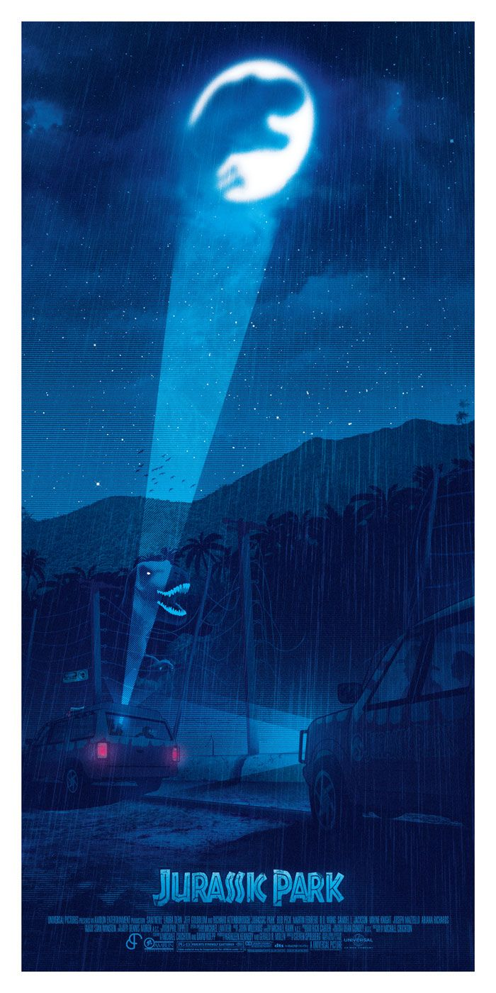 Alternative movie poster for Jurassic Park by Patrick Connan