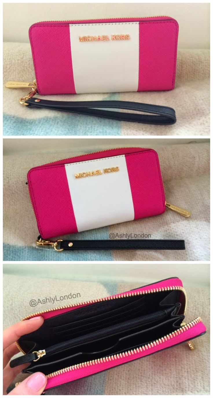 Michael Kors Jet Set Wallet. Would be gorgeous in tan or navy.