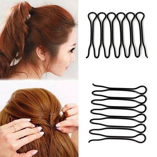 2 Pcs mulheres moda estilo de cabelo clipe vara Bun criador acessórios de cabelo Braid ferramenta alishoppbrasil