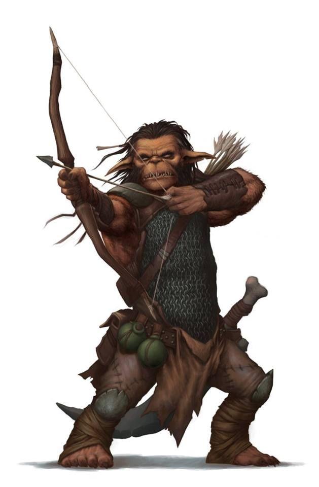 Hobgoblin Fighter Archer - Pathfinder PFRPG DND D&D d20 fantasy