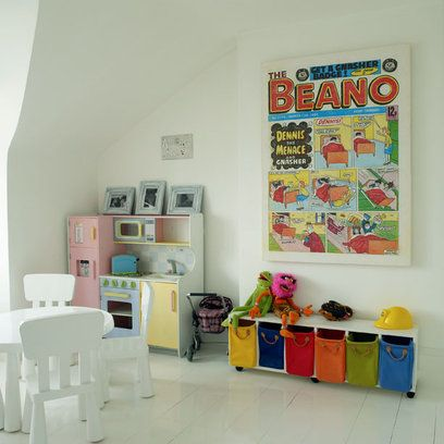Kids Room: Colour Bucket Storage And Comic Poster. For More Decorating Ideas  Visit Redonline