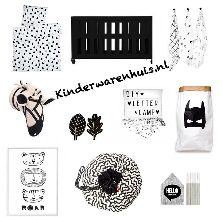#room #kids #kidsroom #decoration #monochrome #black #white #blankandwhite #kinderwarenhuis.nl