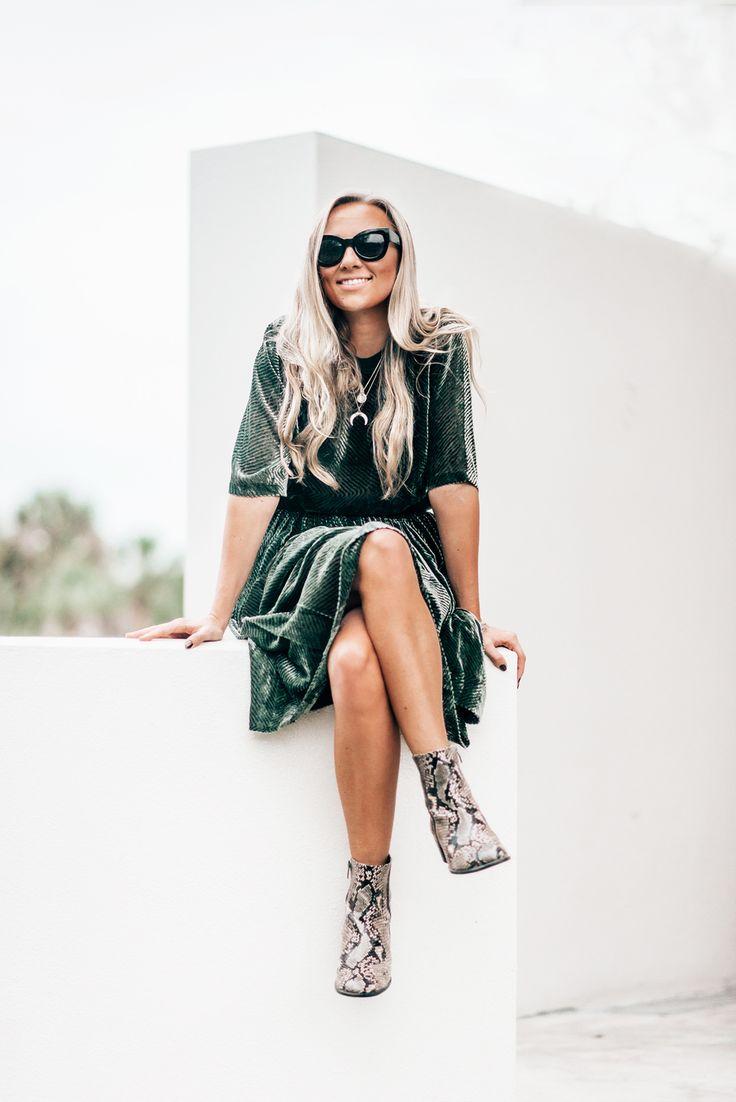 olive green velvet skirt and shirt samsøe samsøe ecco shoes Start Living Your Best Life - Blogi   Lily.fi