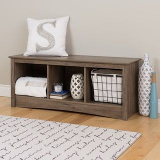 Shop for PREPAC Drifted Grey Wood Cubby Bench. Get free shipping at Overstock.com - Your Online Furniture Outlet Store! Get 5% in rewards with Club O! - 19196362