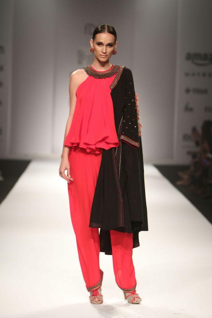 A Fall look by Nikasha #India #Fashion #Womenswear #Runway #Indianfashion #Festivewear #Indiandesigner