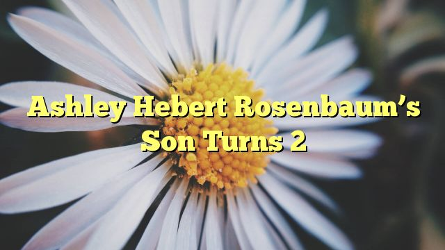 Ashley Hebert Rosenbaum's Son Turns 2 - http://doublebabystrollerreviews.net/ashley-hebert-rosenbaums-son-turns-2/