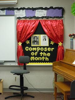 "So La Mi: Teaching Elementary Music: New ""Composer of the Month"" Board"