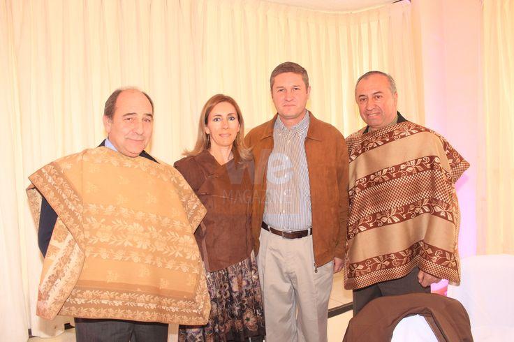 Jesús Pons, Mariechen Heldt, José Antonio Arellano y Carlos Barra.  Premiación de la Asociación de Rodeo de Curicó 22 de junio 2013