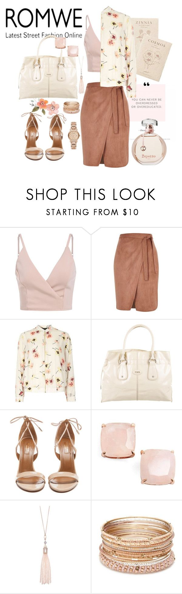 """""""Khaki-Slip-V-Neck-Cami-Top"""" by manueladimauro ❤ liked on Polyvore featuring River Island, Tod's, Aquazzura, Kate Spade, Oasis, Red Camel and Burberry"""