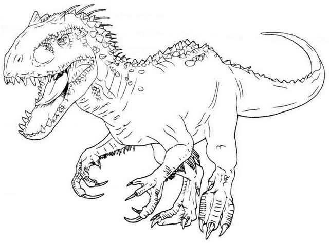 10 Best Indominus Rex Coloring Pages For Kids And Adults Dengan