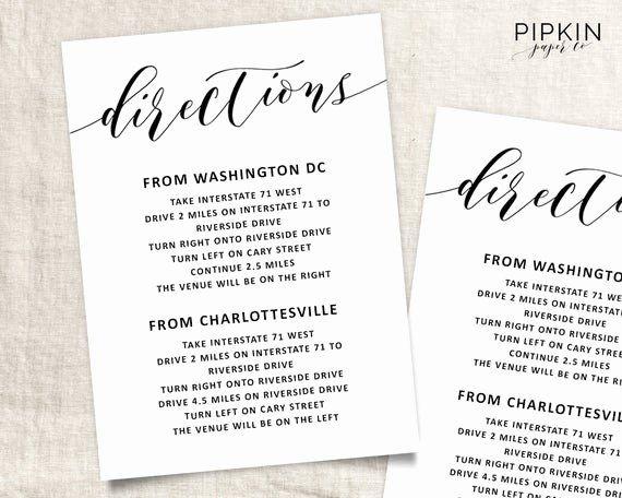Wedding Enclosure Card Template Unique Wedding Directions Template Wedding Info Card Template Wedding Info Card Wedding Details Card Wedding Direction Cards