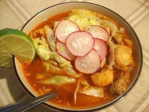 Receta de pozole rojo - comida mexicana