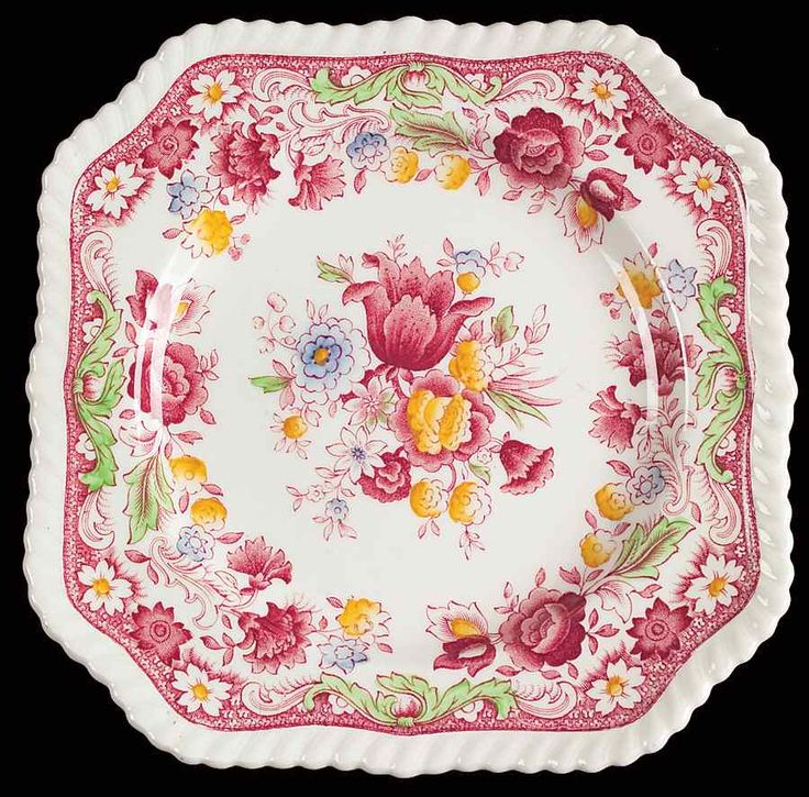 Winchester Pink (Rope Edge) Square Salad Plate by Johnson Brothers  sc 1 st  Pinterest & 52 best Johnson Brothers images on Pinterest   Johnson bros Johnson ...