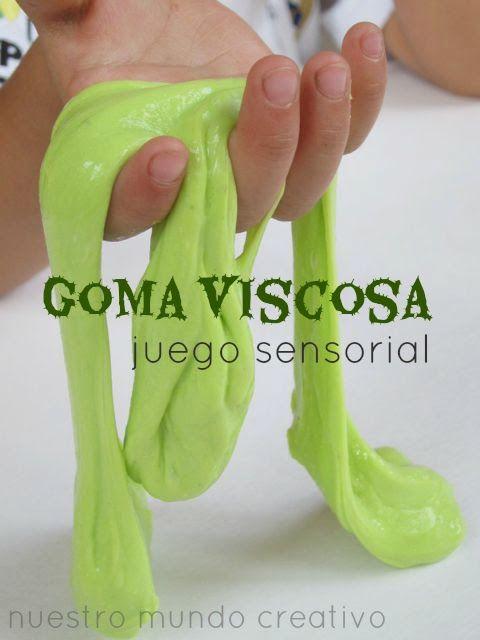 Goma Viscosa, juego sensorial | #Artividades