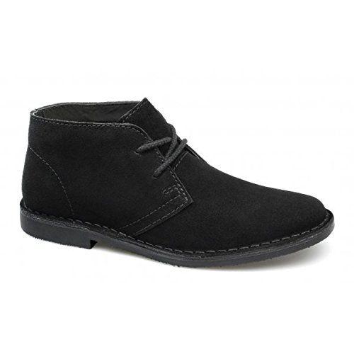 Wüste Stiefel Männer, die klassische Leder Schuhe lässig Chukka Stiefeletten, [BLACK SUEDE ], [UK 7 / EU 41] - http://on-line-kaufen.de/private-brand/uk-7-eu-41-desert-boots-lederschuhe-mens-classic-4