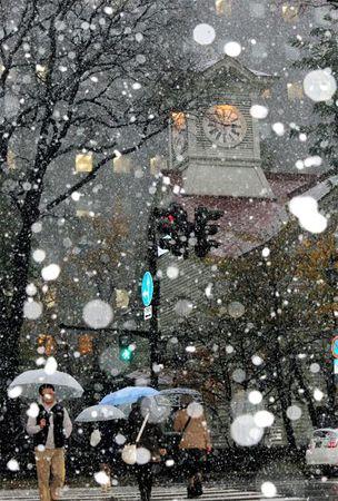 Estacao da neve em Asahikawa,  Hokkaido. Japao.