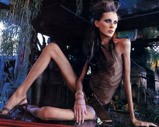 Model Isabelle Caro has died at 28, presumably from causes linked to her long-time battle with anorexia.  This is so sad..