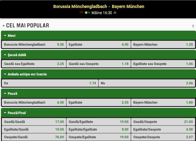Pariuri sportive Borussia M'gladbach - Bayern Munchen (05.12.2015) - http://biletu-zilei.com/ponturi-fotbal-germania-bundesliga/pariuri-sportive-borussia-mgladbach-bayern-munchen-05-12-2015/