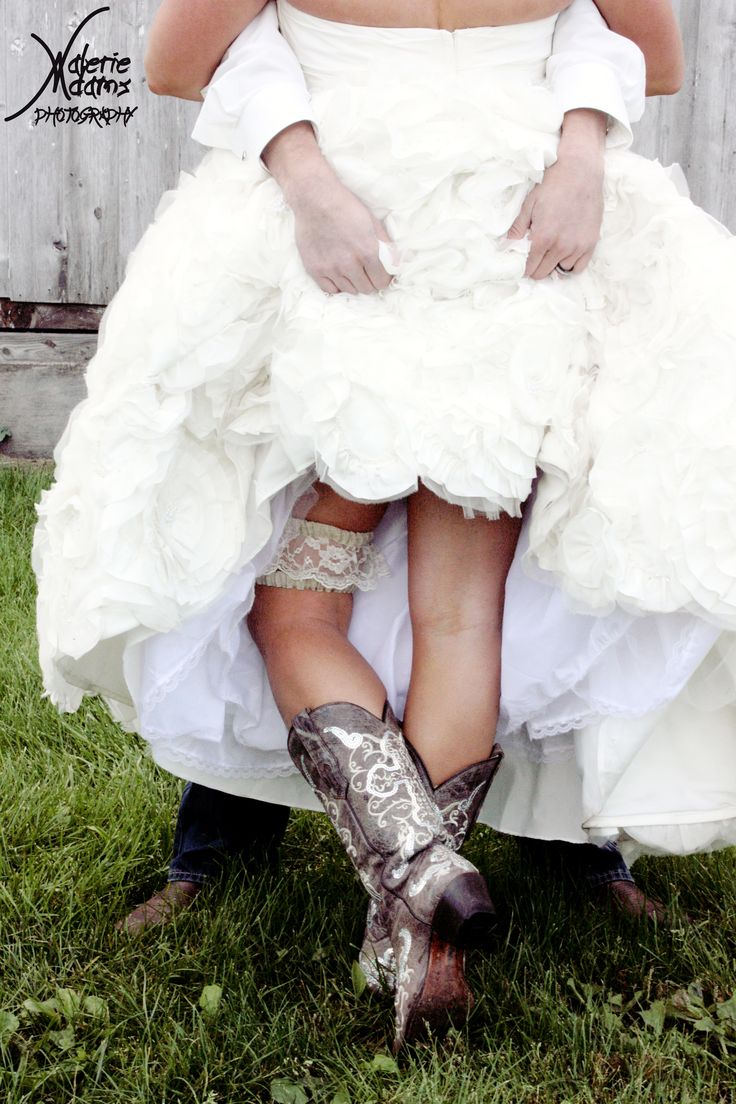 Showing Off Garter And Country Boots