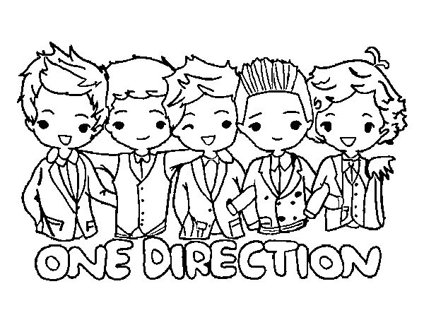 coloring pages of one direction | Coloring page One direction to color online - Coloringcrew.com
