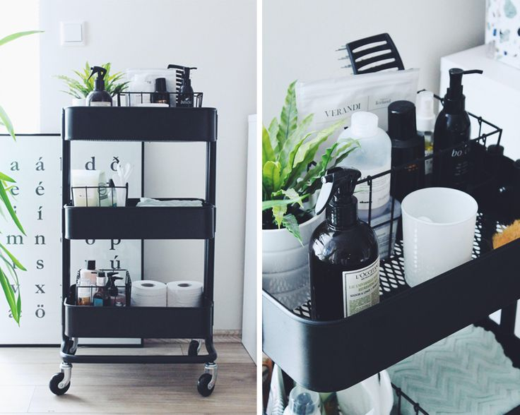 Rolling cart * for storage * works well in small bathrooms. * IKEA * RÅSKOG | via: thorunnivars.is