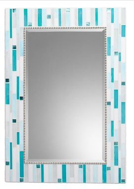 Custom Made Mosaic Bathroom Mirror   Signature Collection