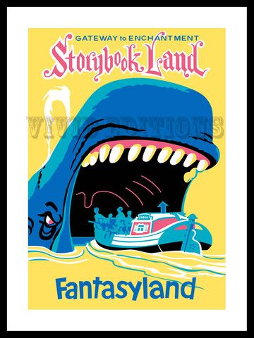 DISNEYLAND FANTASYLAND STORYBOOK LAND POSTER - by VividEditions