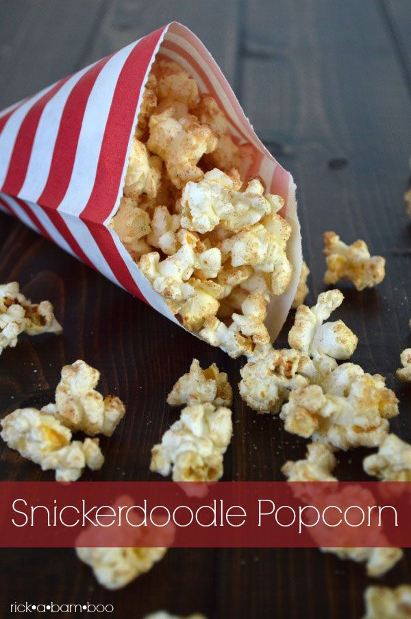 Who doesn't love snickerdoodles? Cinnamony. Sugary. Creamy. And crunchy? This popcorn has it all.